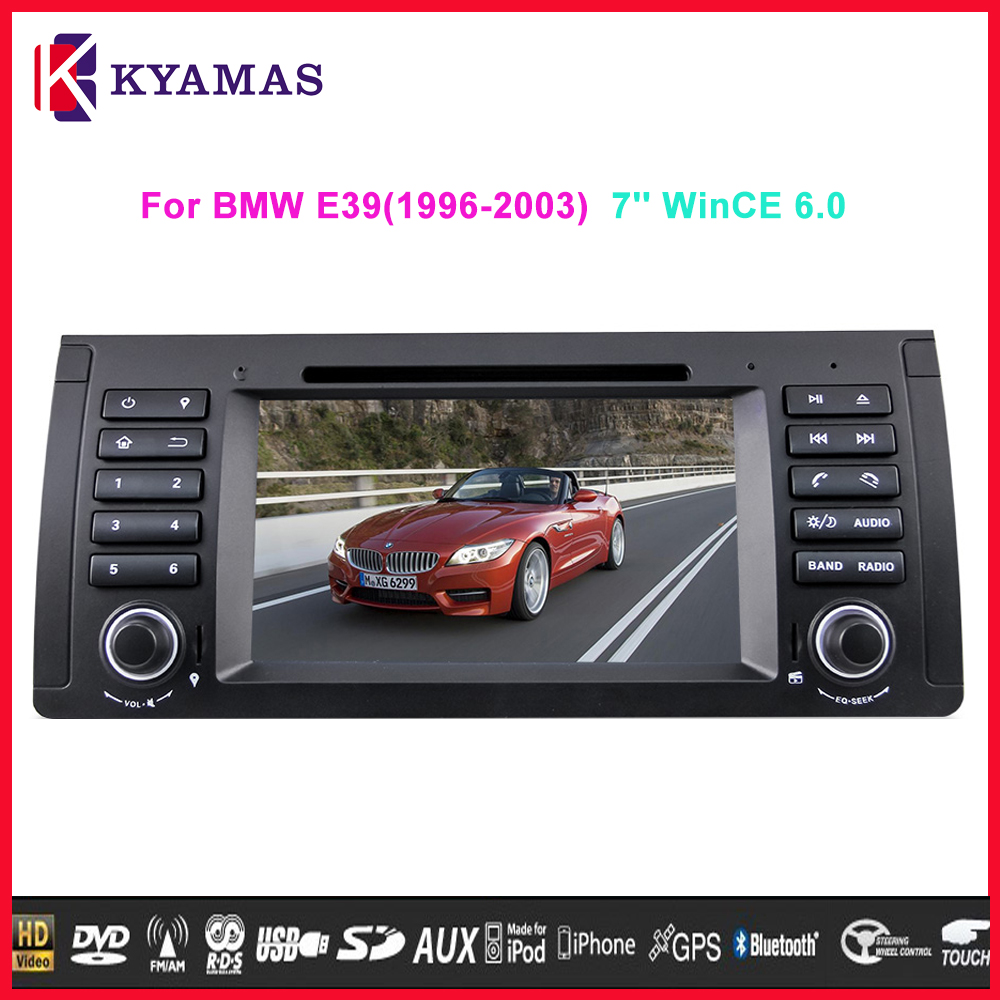 7 inch LCD Touch Screen Monitor Car DVD Player Wince 6.0 for E39(1996-2003)