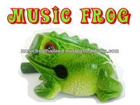 Wooden musical frog