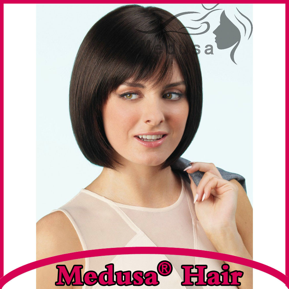 Monofilament Synthetic Lace Front Wigs Natural Black Bob Style Short Wigs For Women Wave Wig Synthetic Hair SW0039BM