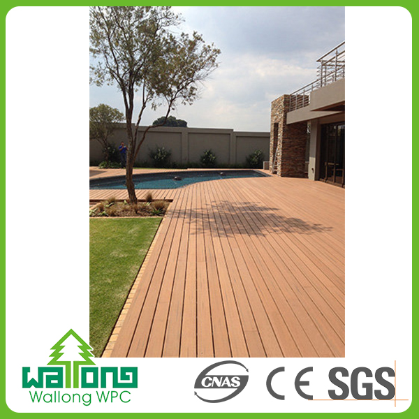 Teak recycled wpc outdoor composite wood decking hollow 40x40 floor tiles