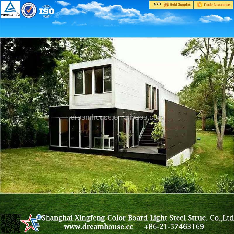 Cheap prefab shipping container house / Shanghai foldable container house