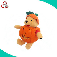 custom cheap cute Halloweens plush toys for children /OEM plush halloween promotional gift toys wholesale