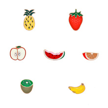 Hot Styles Custom Cartoon Enameled Metal Fruit Pin Brooch