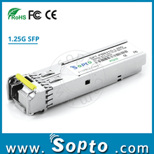 1.25G SFP Module 1000Base SFP BIDI WDM Single Fiber 120km Fiber Optical Transceiver