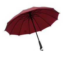 550*12K auto open high quality double layers fiberglass golf large mens straight business umbrella