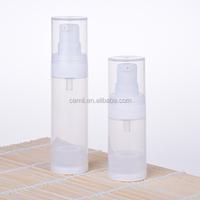 low price pp plastic round white 50ml airless bottle vacuum