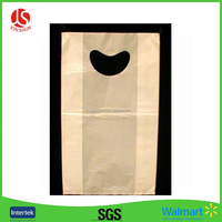 Special Design Heart Shaped Die Cut Clear Plastic Shopping Bags