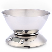 Cooking Tool Stainless Steel Electronic Weight <strong>Scale</strong> Food Balance Cuisine Precision Kitchen <strong>Scales</strong> with Bowl 5kg 1g