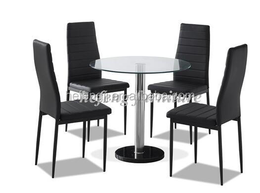 restaurant round glass dining table and chair