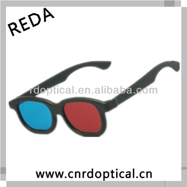 Directly price color plastic frame red cyan 3d glasses for video to 3gp download