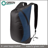 Nylon dry bags, waterproof backpack with two zipper