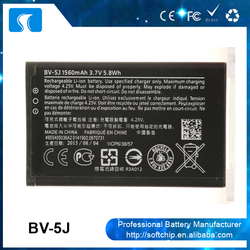 Guangzhou supplier compatible mobile phones battery for Nokia BV-5J