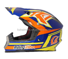 Orange Color Newest Motorcross Open Full Face ECE Approved Helmet