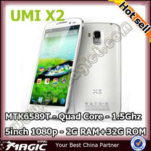 On sell 5inch Android 4.2 voto x2 umi x2 smart phone with Free case