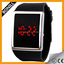 Bonill factory cheap soft silicone watch LED digital watch as christmas gift to Child