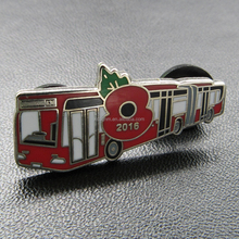 Custom metal hard enamel poppy badge/metal bus trading pin /promotional gifts