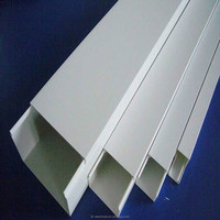 Good quality square wiring duct , Plastic PVC floor cable trunking, Grey white open slotted cable trunking size 16*16 16*25
