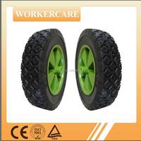 8inch small semi-pneumatic rubber wheel
