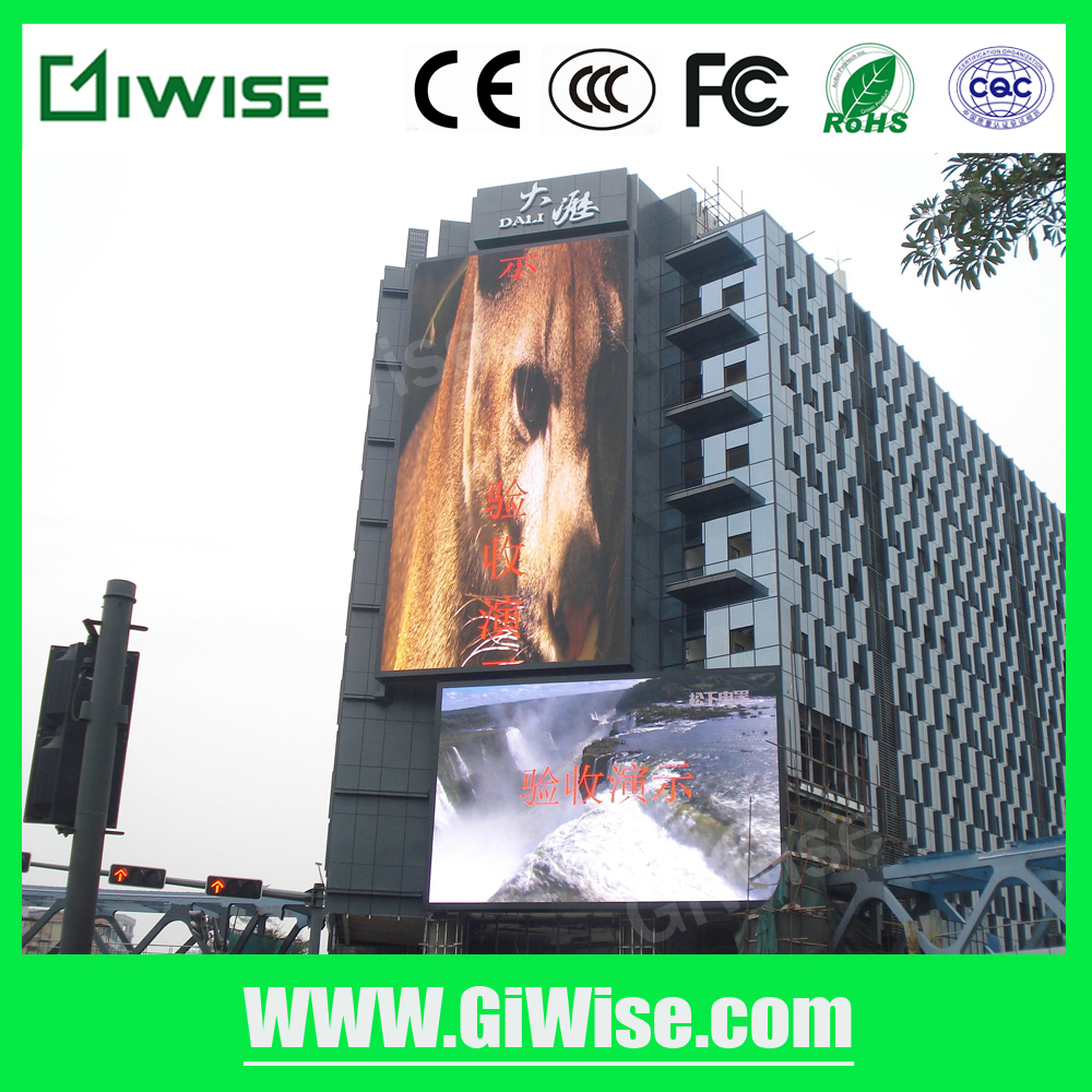 Outdoor IP65 P10 RGB full color led wall price with high quality screens
