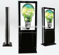 42inch floor standing cheap HD double sided digital signage on sale