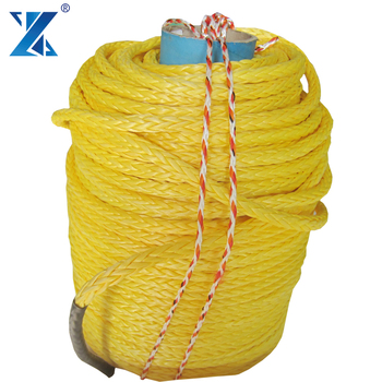 12-strand UHMWPE fishing net trawling rope/ fishing winch rope