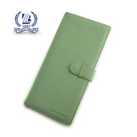 green pu travel passport holder with 9 credit card slots