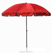 EBM-009: Essential 6.5ft Garden Beach Umbrella advertising With polyester fabric- Multicolor
