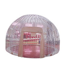 Ex-factory price printing outdoor event inflatable clear dome tent for kid