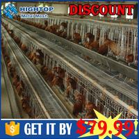 Trade Assurance 96 Birds 120 Birds 3tiers Metal Chicken Run For Sale