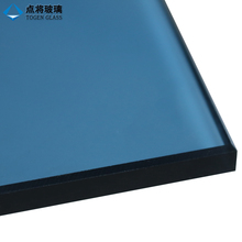 8mm Ocean Blue Tinted Sun Control Tempered Glass Wall Cladding