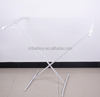 Metal cloth drying rack with white powder coated