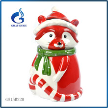 unique colorful mouse shape ceramic christmas gift cookie jars
