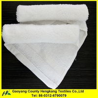 White cotton roller towel fabric