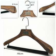 custom wooden luxury suit hanger wooden clothes hanger supplier