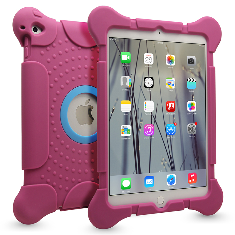 Top Quality Colorful Rubber Silicone Cases Tablet Accessories for Apple iPad Air
