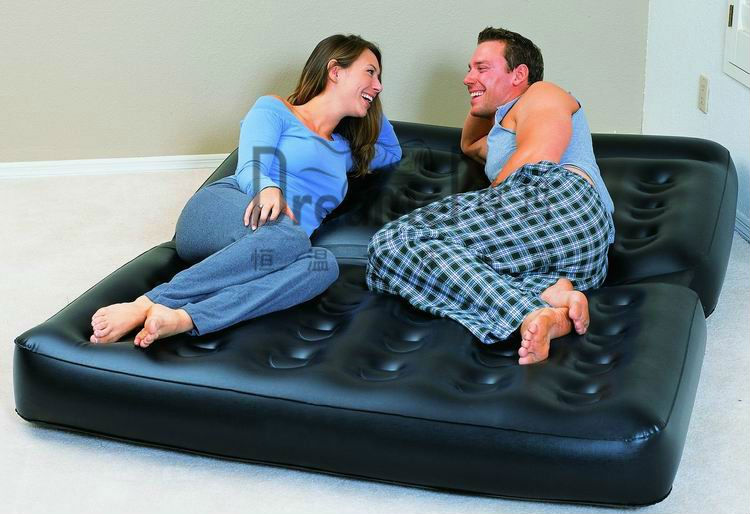 Chinese Supplier Multi-purpose folding plastic Inflatable 5 In 1 Air Sofa Bed