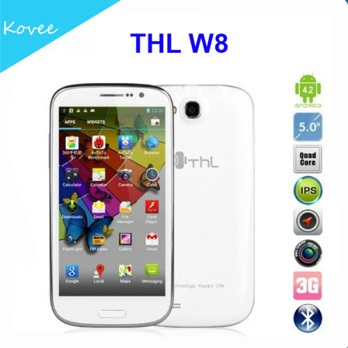 "Original THL W8 Beyond MTK6589T Quad Core Android 4.2 OS 5"" FHD 1920*1080p Screen Mobile phone 13.0MP Camera"
