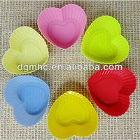 Heart shaped silicone cake mould, silicone cupcake mold