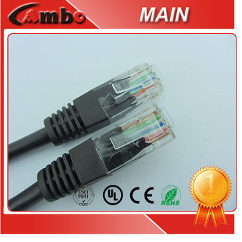 High performance Non-Shield utp cat6 patch cord 24AWG 7*0.20mm Bare Copper Suitable for 1000BASE-T