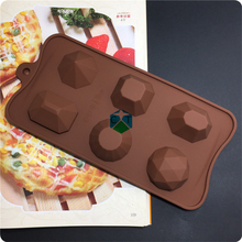 CTBED-224 Cholocate Mold 6 Even Jewel Safe Silicone Cake Mould Not Dyeing Not Fade Silicone Break Apart Chocolate Bar Mold