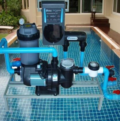 Cheapest pool salt water chlorinator for family swimming for Cheapest way to put in a pool