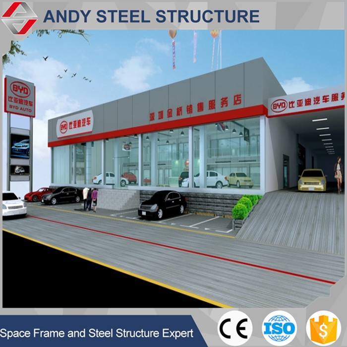 Structural Steel Frame Car Showroom Design Factory