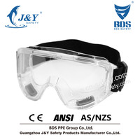 2015 HOT Sales Anti-Fog Approved Safety Wide-Vision Lab CE ANSI Approved Goggle,Concealer Smoke Anti-Fog Dual Mold Safety Goggle
