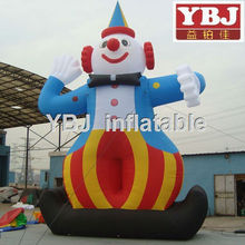 happy clown inflatable cartoon/inflatable cartoon for shopping mall advertising