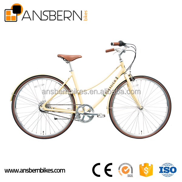 700C 6061 Aluminum Classic Vintage Internal 3 Speed Lady's City Bike ASB-CB-A01A city urban bicycle