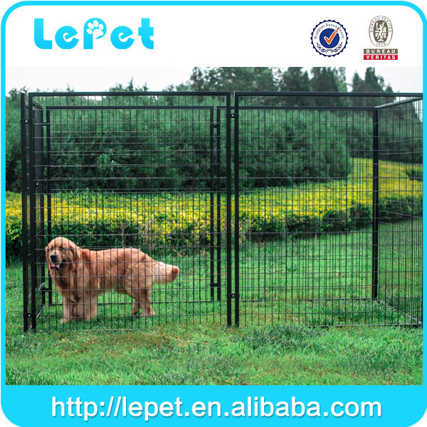 Backyard garden wholesale welded tube metal fence dog kennels and runs
