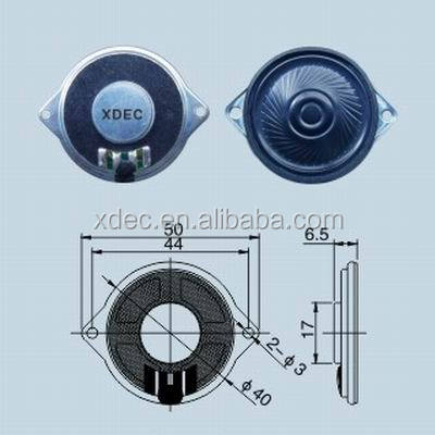 40mm binaural arabesquitic diaphragm mylar speaker 8ohm 0.5W
