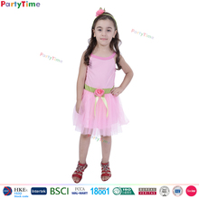 hot selling kids pink dress costume latest party wear dresses for girls