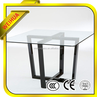 Cheap glass sheets tempered glass coffee table, glass dining table