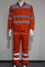 Cotton Orange Fireproof Coverall for Oilfield and Gas